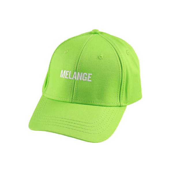 MELANGE - Lime Green Baseball Cap White Logo