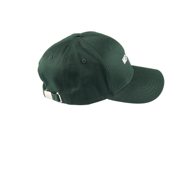 MELANGE - Bottle Green Baseball Cap White Logo