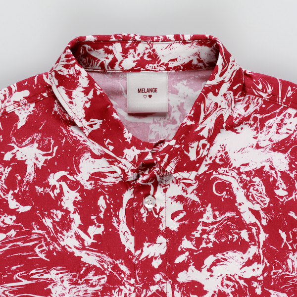 MELANGE - Cherry Cotton Poplin Printed Shirt