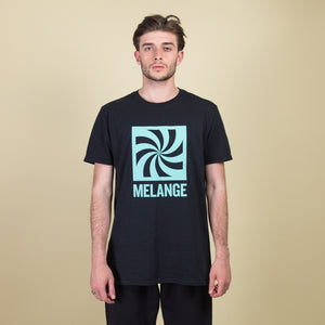Black MELANGE cotton t-shirt