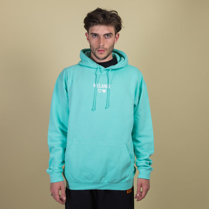 mint green cotton hoodie
