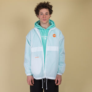 Transparent White Windbreaker Jacket