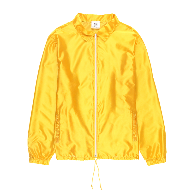 MELANGE Yellow Tergal Coach Jacket