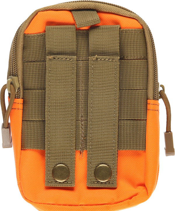 MELANGE Beige & Orange Tactical Pouch with Black Belt