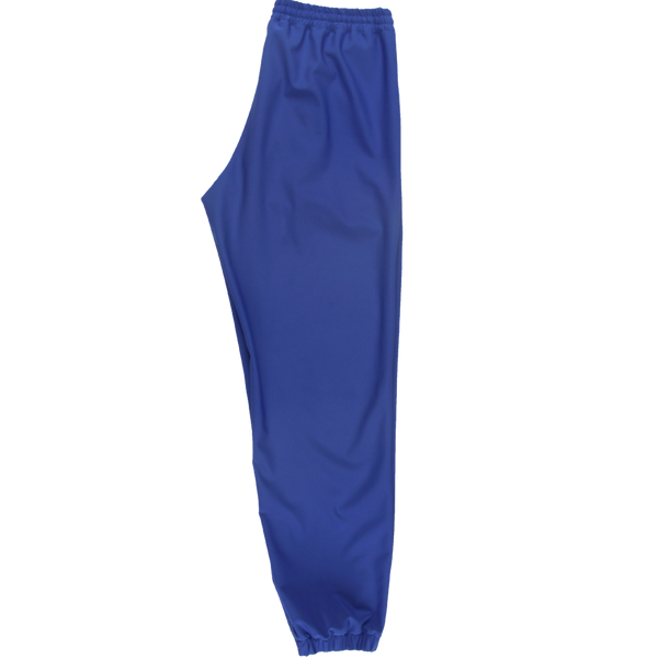 MELANGE Royal Blue Tergal Joggers Pants