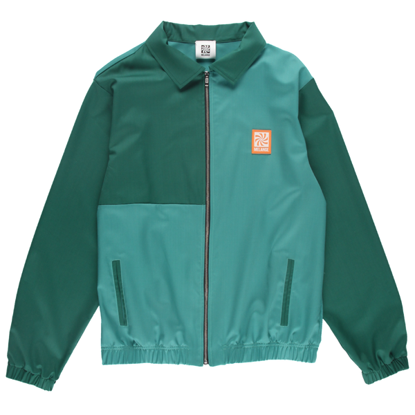 MELANGE Green Fine Wool Track Jacket