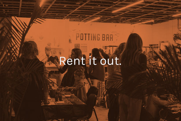 rent out the potting bar