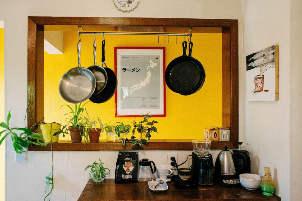 Kitchen with potted plants
