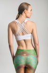 Cross Laced-Back Sports Bra(White)