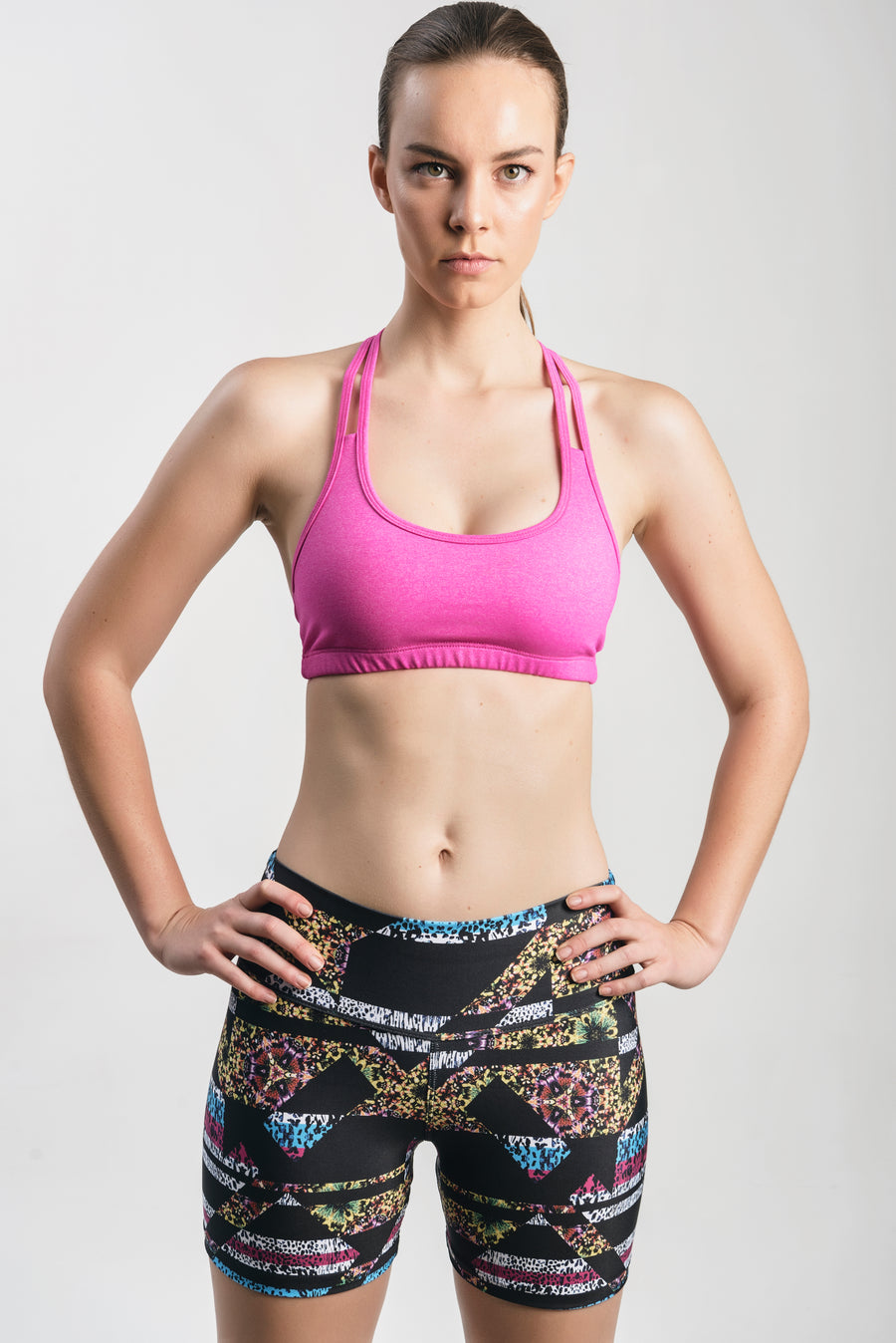 Triple Laced Sports Bra(Pink)