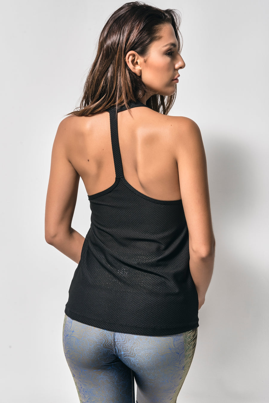 Single Laced-Back Breathable Top(Black)