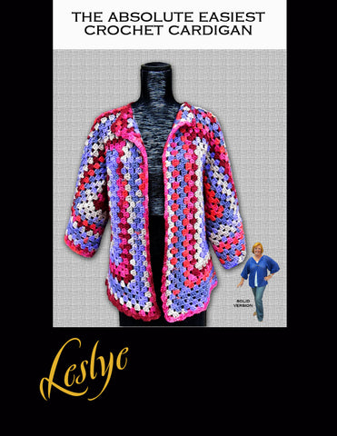 The Absolute Easiest Crochet Cardigan