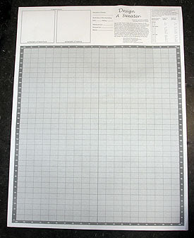Design a Sweater Knitter's Grid - Knitting Graph Paper