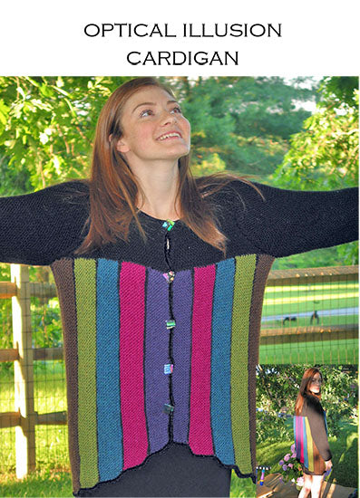 Optical Illusion Cardigan Pattern by Leslye Solomon