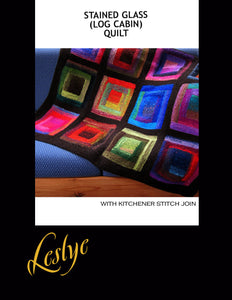 Stained Glass (Log Cabin) Quilt - Digital Download