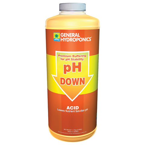 General Hydroponics pH Down 1qt