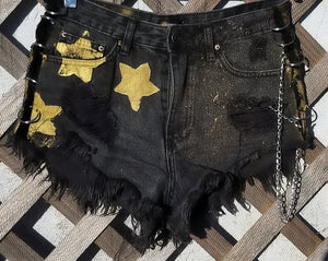 Sandy West denim shorts