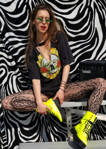 Guns and Roses spike T dress