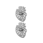 Anatomical Heart Stud Earrings - Free Shipping
