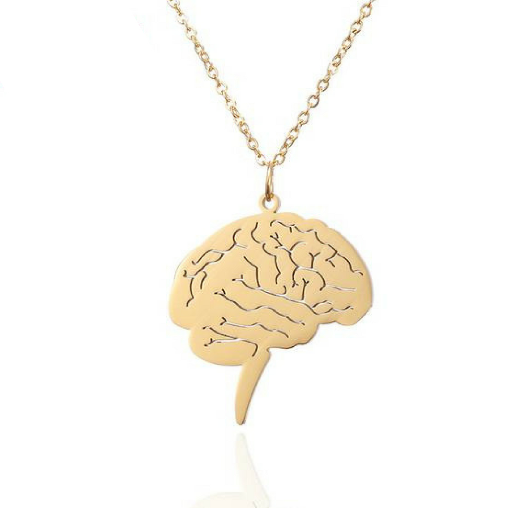 Brain Pendant Necklace - Free Shipping