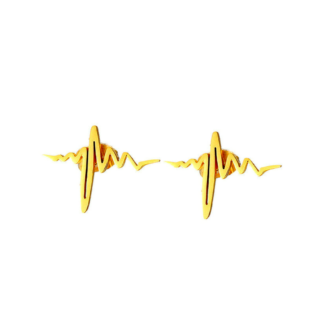 EKG Stud Earrings - Free Shipping
