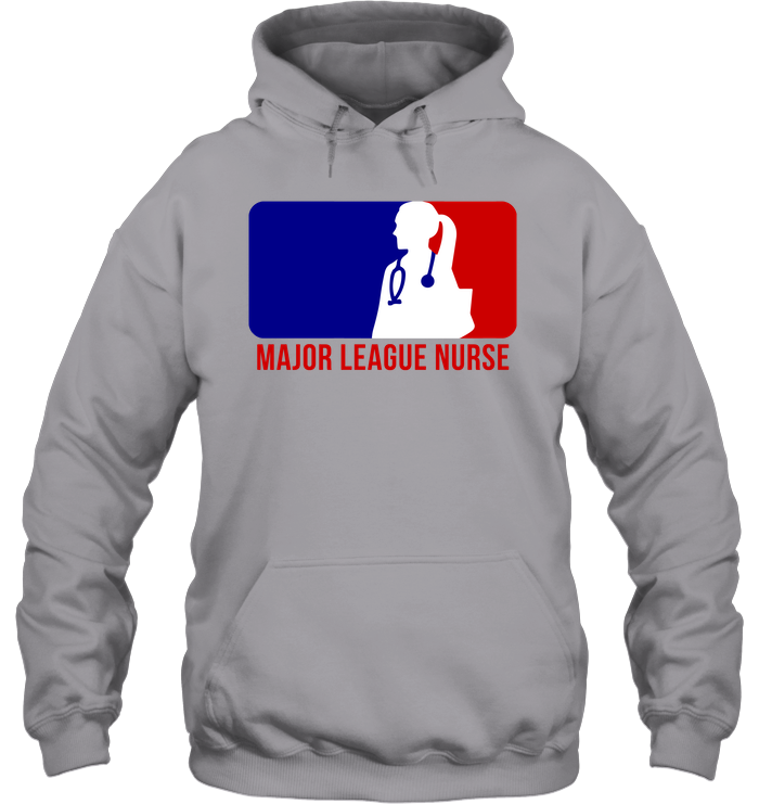 Major League Nurse- Female Logo 1 -  Unisex Hoodie