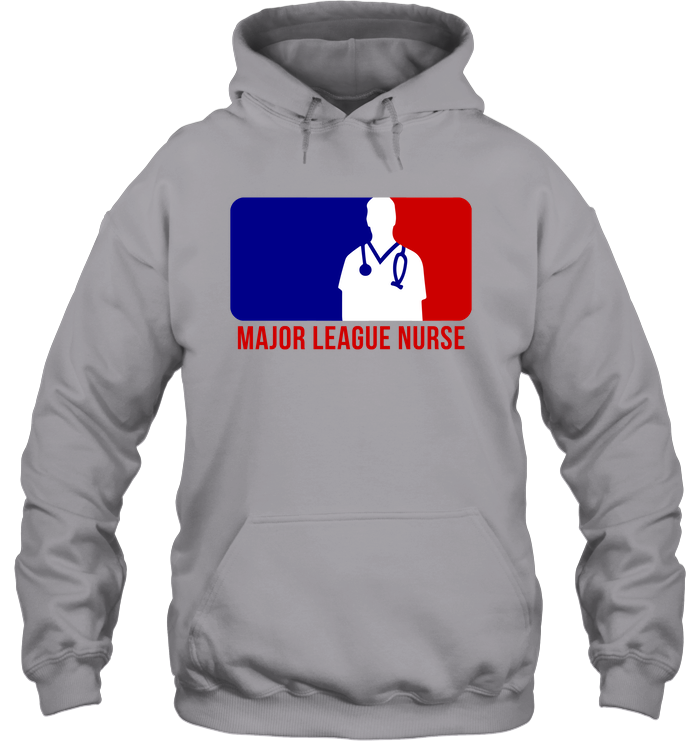 Major League Nurse - Male Logo Hoodie