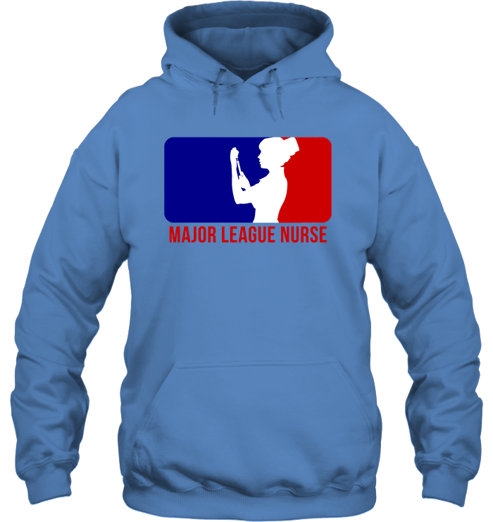 Major League Nurse- Female Logo 2- Unisex Hoodie
