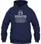 Nursing School Like Riding A Bike Unisex Hoodie
