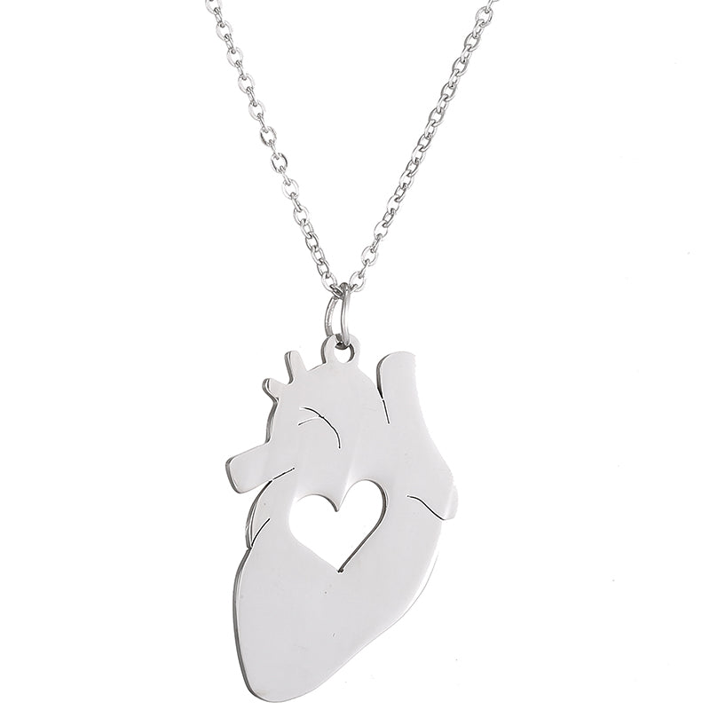Medical Heart Pendant Necklace - Free Shipping