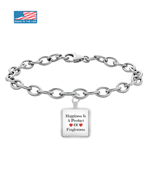 Happiness Is A Product of Forgiveness Bracelet