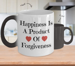 Coffee Mug - Happiness Is A Product Of Forgiveness Color Changing Coffee Mug