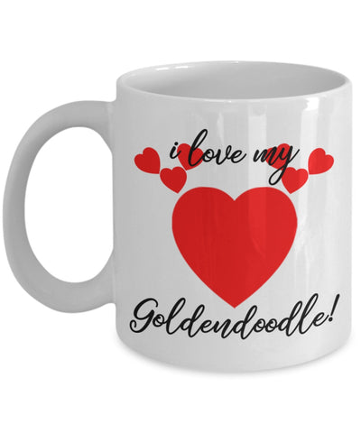 Image of Coffee Mug - I Love My Goldendoodle Coffee Mug