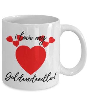 I Love My Goldendoodle Coffee Mug