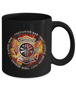 Proud Firefighter Dad Coffee Mug