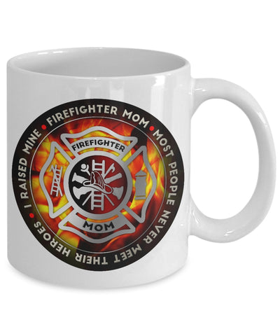 Image of Coffee Mug - Proud Firefighter Mom Coffee Mug