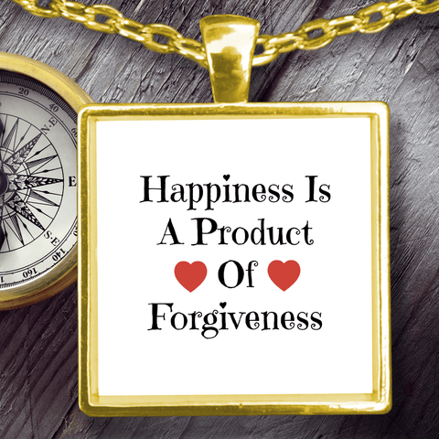 Image of Necklace - Happiness Is A Product Of Forgiveness Pendant Necklace