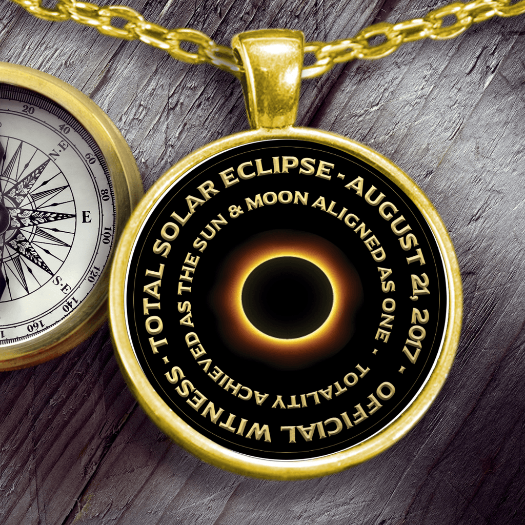 Necklace - Total Solar Eclipse Pendant Necklace