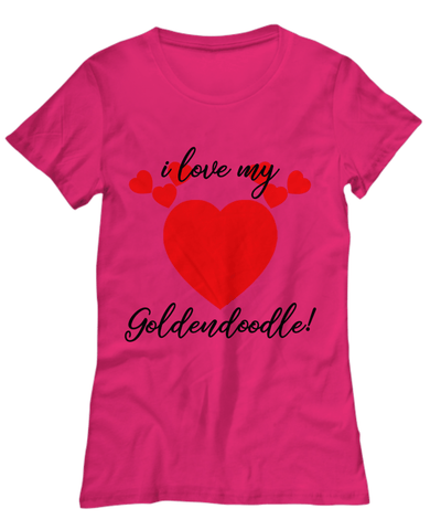 Image of Shirt / Hoodie - I Love My Goldendoodle T-Shirts