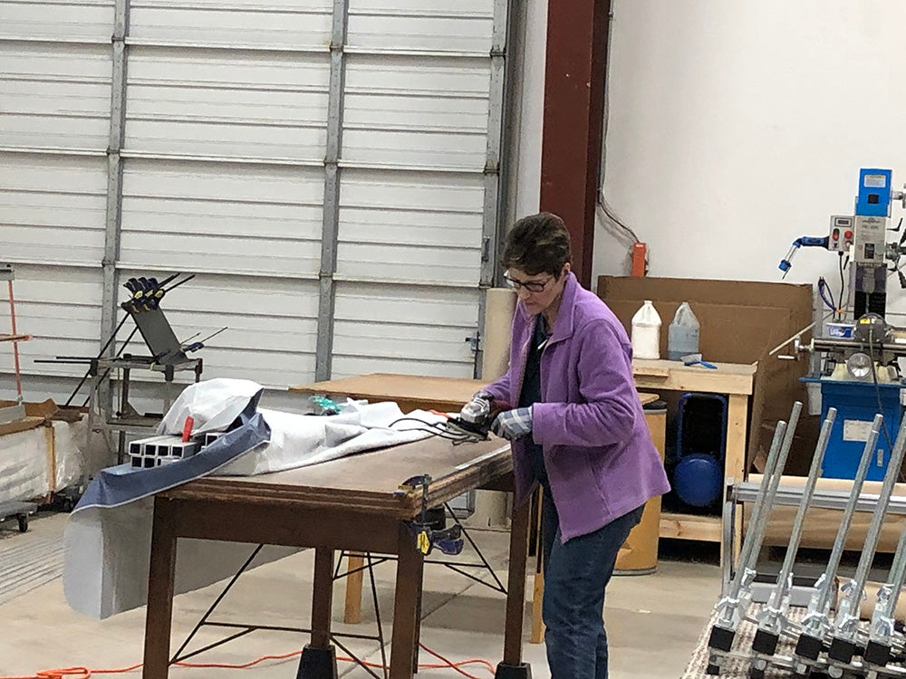 holly working