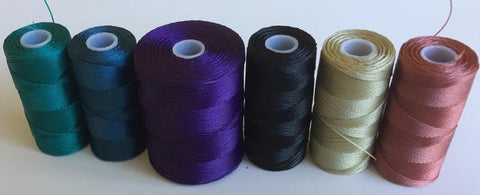 Purple beaded silk discovery Pack