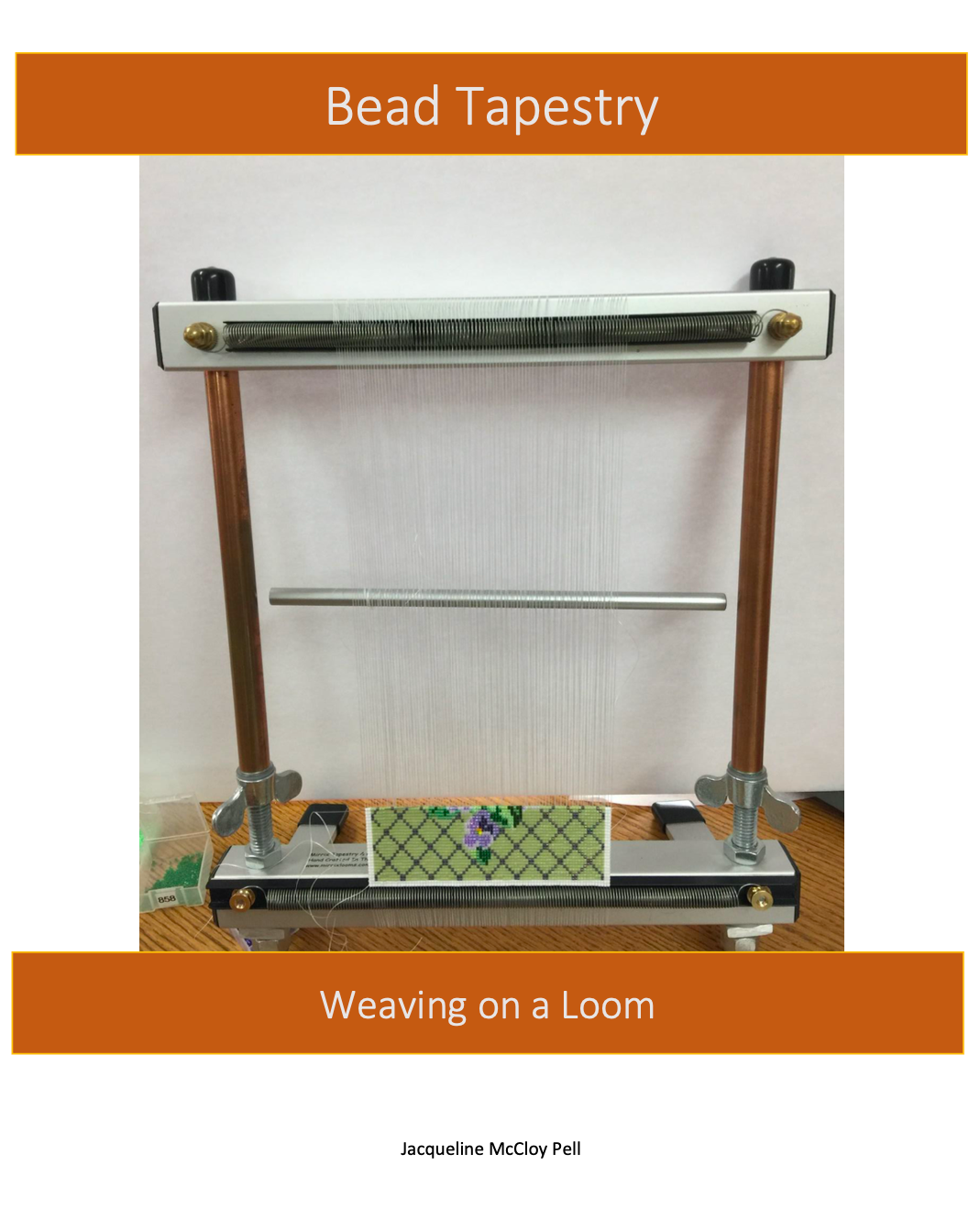 bead tapestry: weaving on a loom