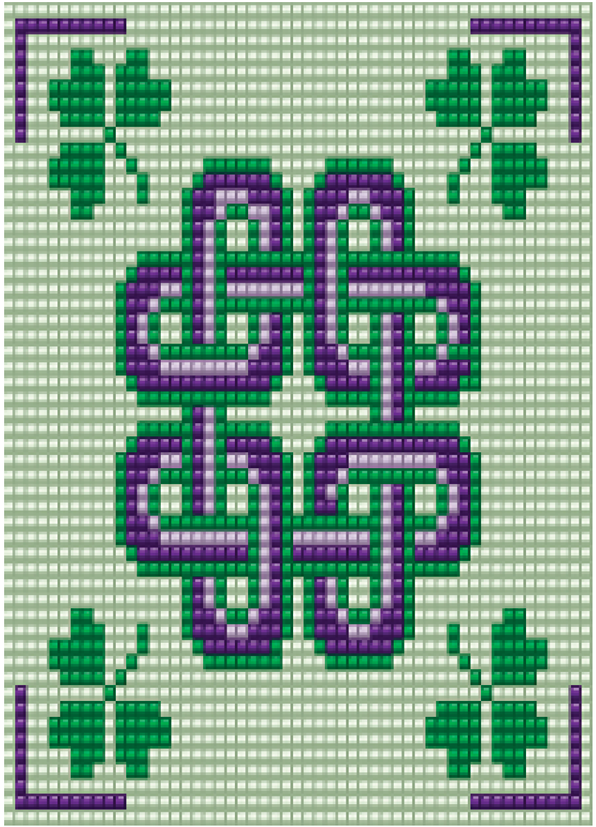 Purple and Green Celtic Knot