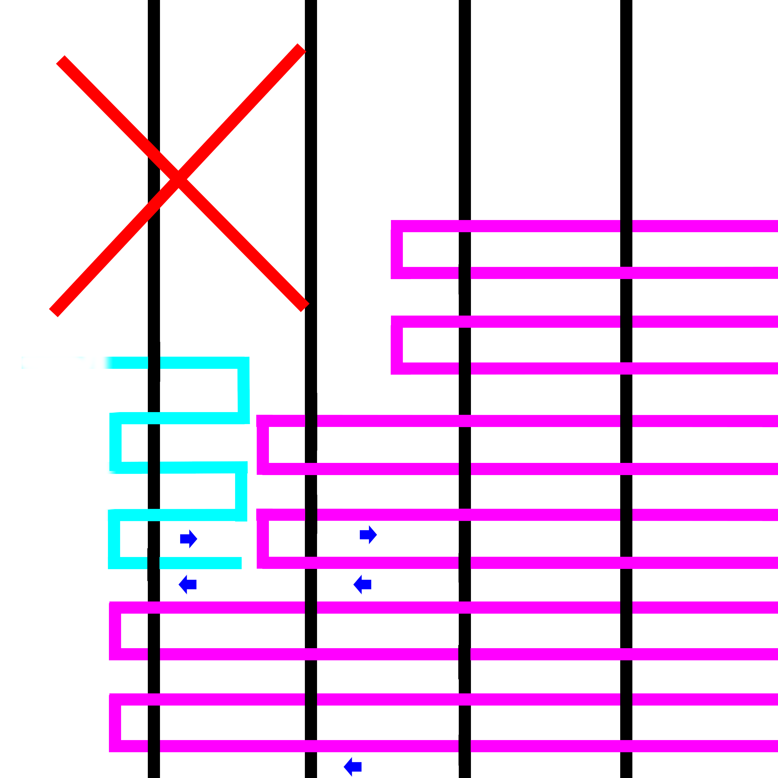 weaving in opposite directions incorrect