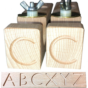 Engraved Wooden Clips