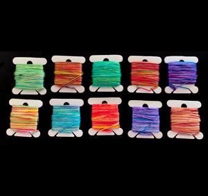 Hand-Painted Silk Yarn & Hand-painted Silk Gima Tape Yarn Set