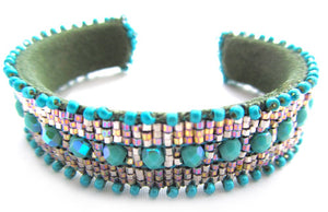 Turquoise Crystal Cuff Kit