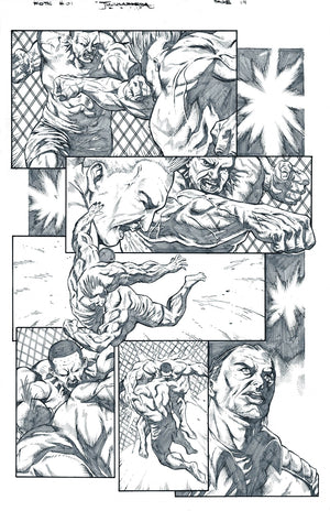 FIGHT OF THE CENTURY Original Art Page! - rexco comics