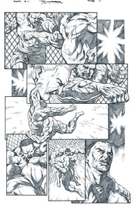 FIGHT OF THE CENTURY Original Art Page!