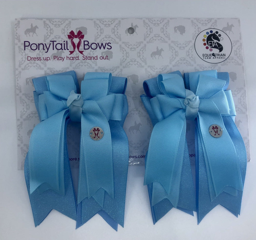 Baby Blue PonyTail Bows